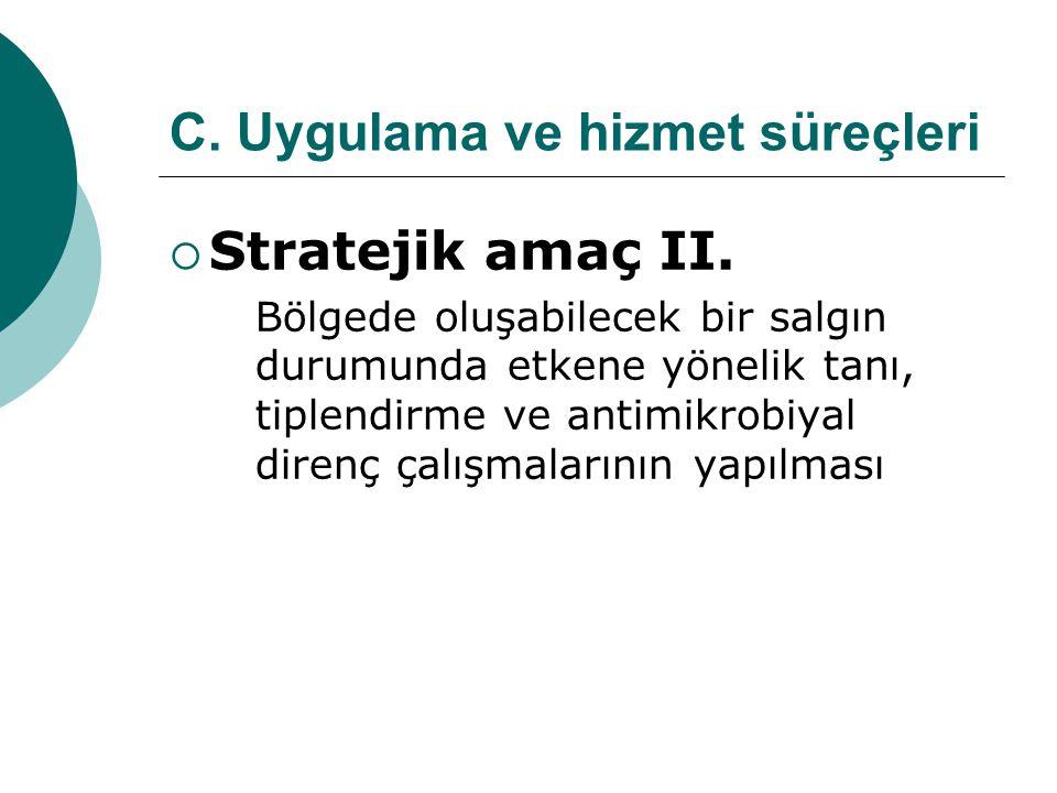 C.Uygulama ve hizmet süreçleri  Stratejik amaç II.