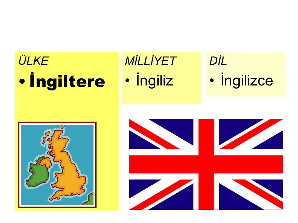 ÜLKE İngiltere DİL İngilizce MİLLİYET İngiliz