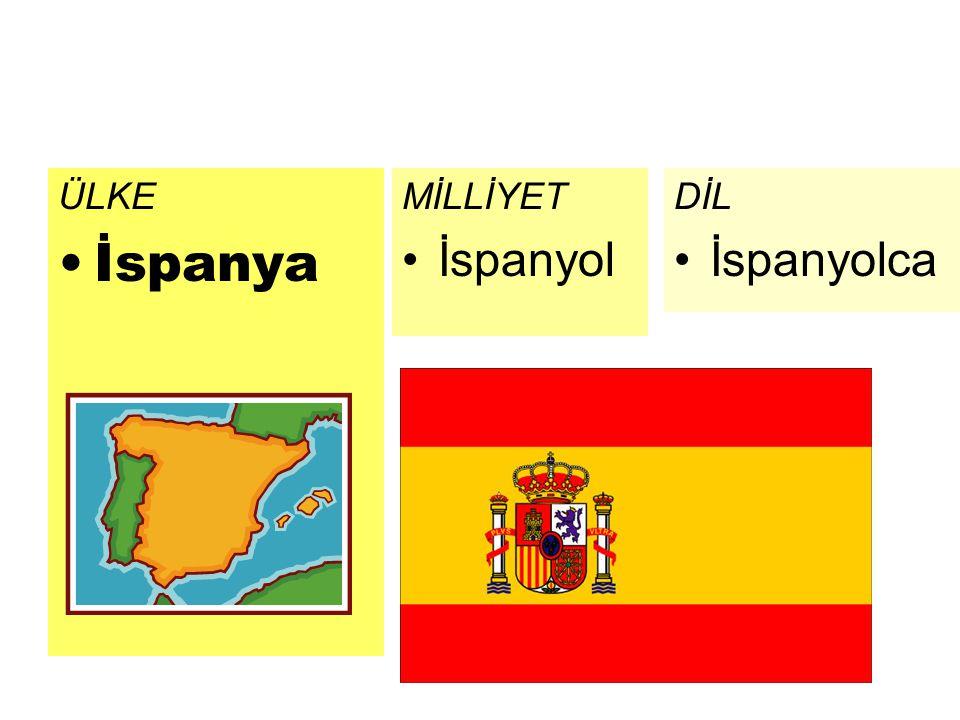 ÜLKE İspanya DİL İspanyolca MİLLİYET İspanyol