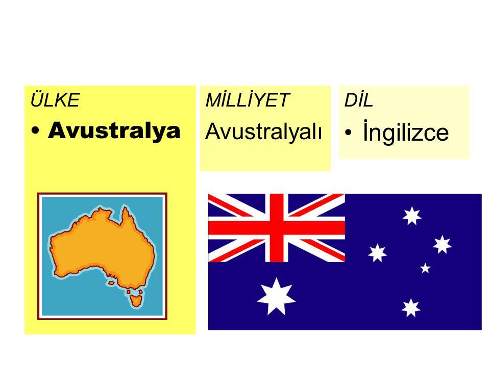 ÜLKE Avustralya DİL İngilizce MİLLİYET Avustralyalı
