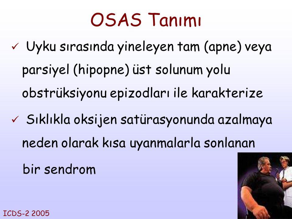 3 OSAS Tanımı Uyku sırasında yineleyen tam (apne) veya parsiyel (hipopne) üst solunum yolu obstrüksiyonu epizodları ile karakterize Sıklıkla oksijen s