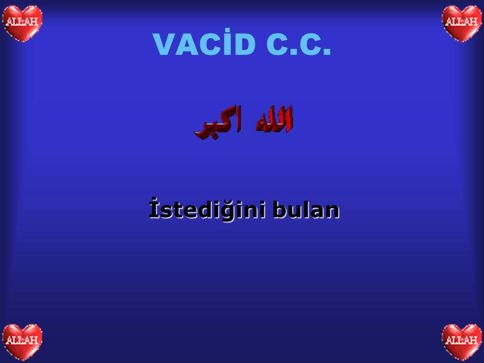 VACİD C.C. İstediğini bulan