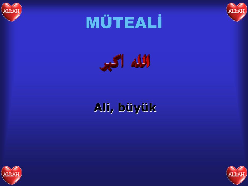 MÜTEALİ Ali, büyük
