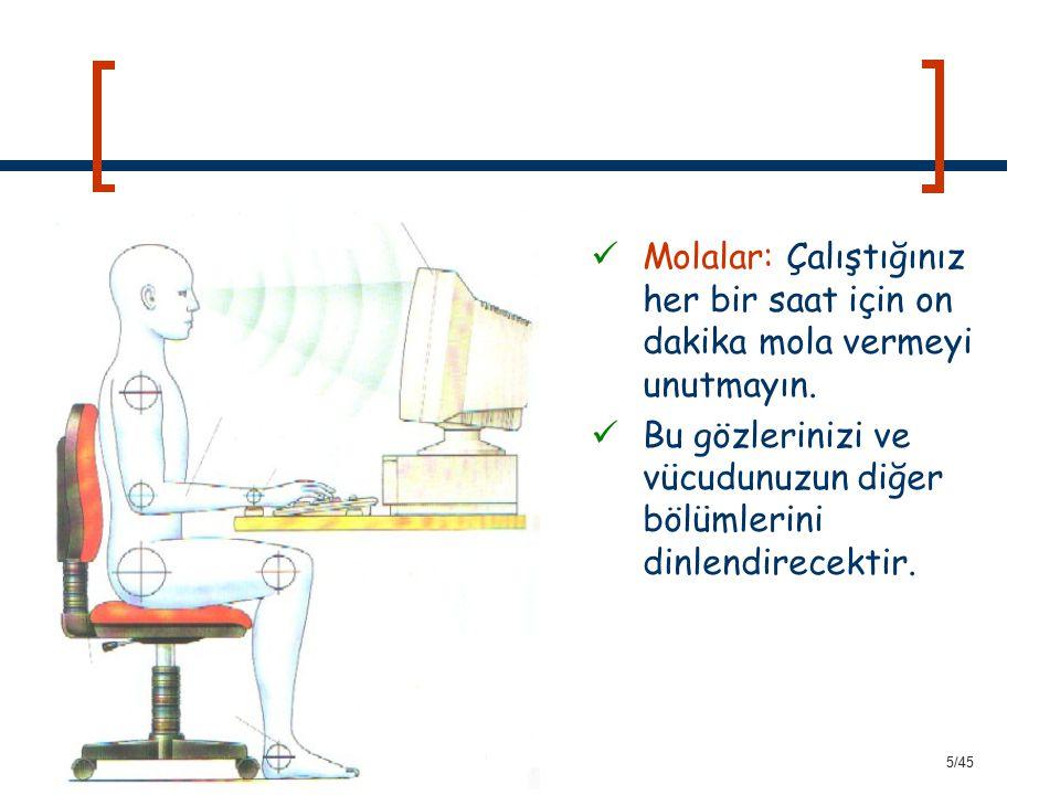 36/45 Eğitimde Bilgisayarın Kullanım Alanları Eğitim araştırmalarında Eğitim yönetiminde Rehberlik ve danışmanlık hizmetlerinde Rehberlik ve danışmanlık hizmetlerinde Ölçme-değerlendirmede Kütüphanecilik hizmetlerinde