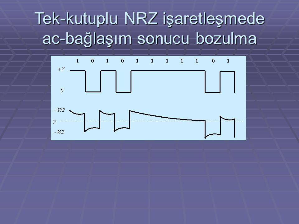 Tek-kutuplu NRZ işaretleşmede ac-bağlaşım sonucu bozulma