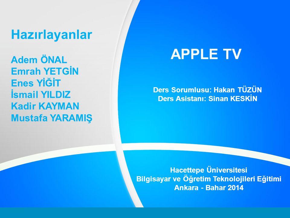 Apple TV Nedir.Eğlence sektörünün en büyük isimlerine erişebilmemizi sağlayan eğlence merkezidir.