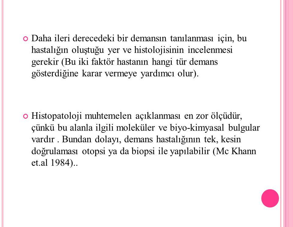 Demans hastalığın babası Alois Alzheimerdir.A.