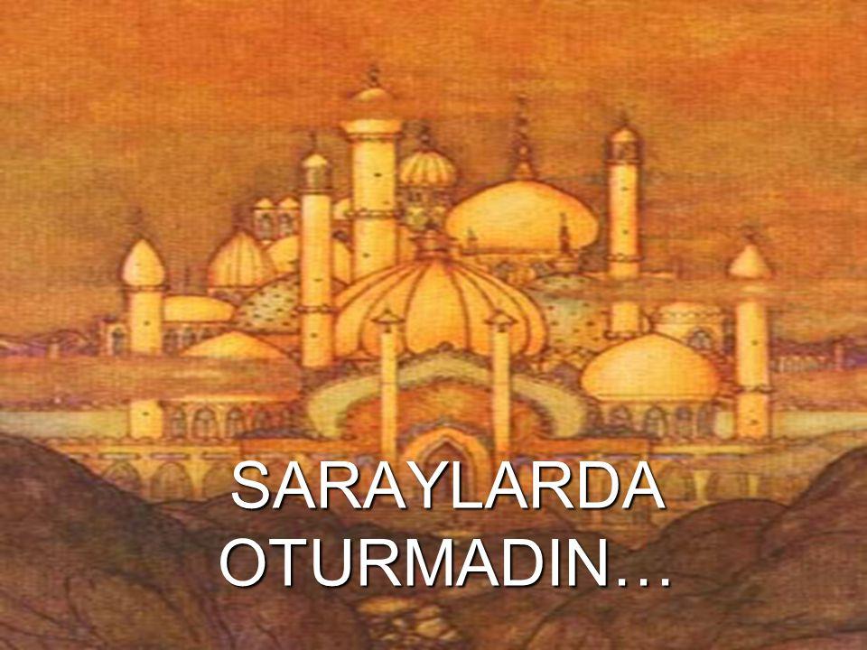 SARAYLARDA OTURMADIN…