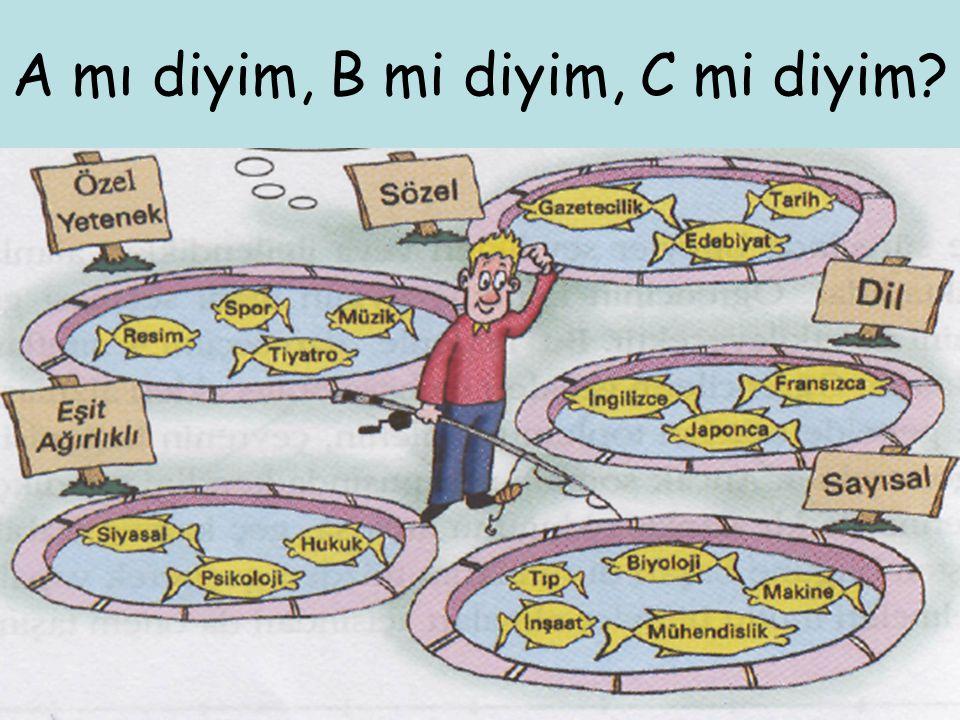 A mı diyim, B mi diyim, C mi diyim?