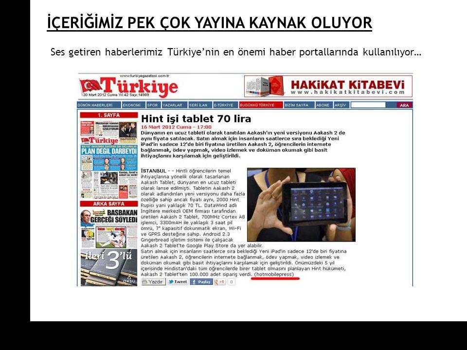 ON TARGET İÇERİĞİMİZ PEK ÇOK YAYINA KAYNAK OLUYOR Ses getiren haberlerimiz Türkiye'nin en önemi haber portallarında kullanılıyor…