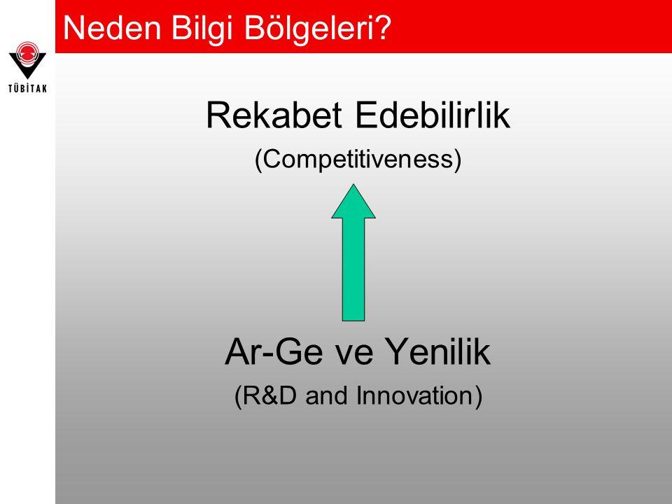 Neden Bilgi Bölgeleri Rekabet Edebilirlik (Competitiveness) Ar-Ge ve Yenilik (R&D and Innovation)