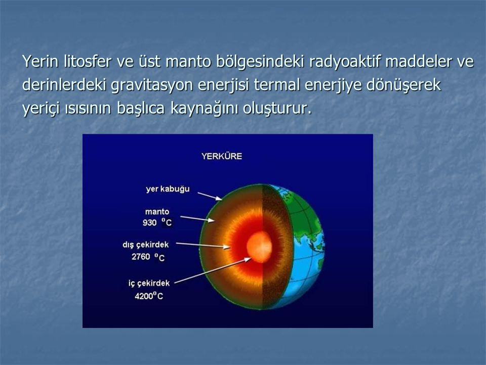 Okyanus Tabanlarında Ölçülmüş Isı Akısı Değerleri N Q (HFU) SS Pasifik741.130.53 Atlantik751.180.42 Hint901.340.24 Bütün Tabanlar 2731.280.53