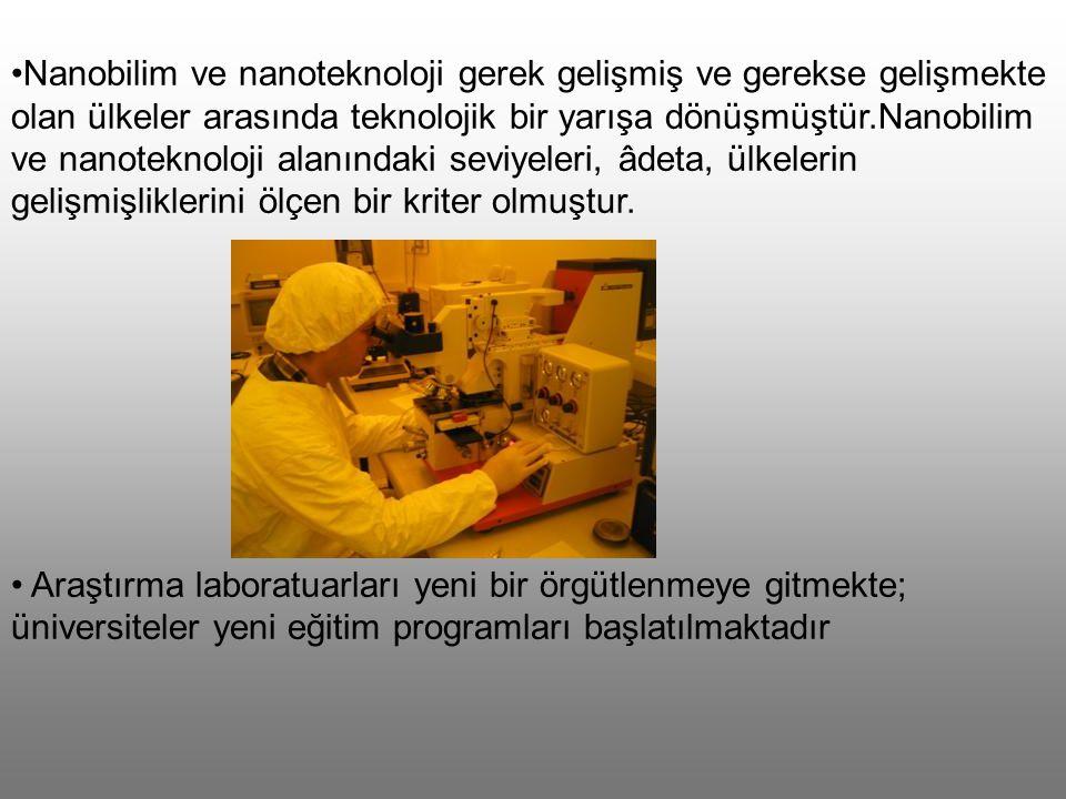 Nanoteknoloji biyoloji, kimya, fizik, mühendislik ve sağlık alanlarında araştırmalar yapar.