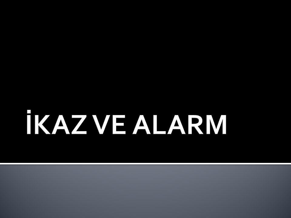  Sivil Savunma Genel Müdürlüğünce yurt çapında kurulmuş bulunan İkaz ve Alarm Sistemlerinin amacı, düşman saldırısını önceden haber almak ve tehlikeye karşı halkı uyararak bir takım önlemlerin alınmasını sağlamaktır.