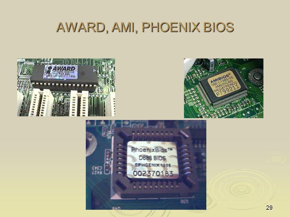 29 AWARD, AMI, PHOENIX BIOS