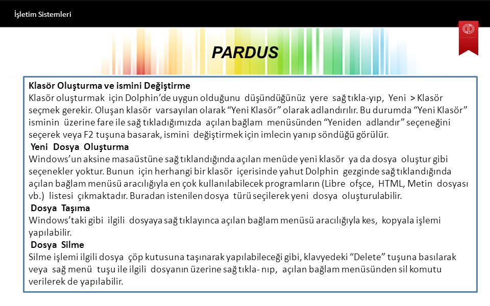 PARDUS İşletim Sistemleri Pencere Açıp-Kapatma, Büyültme-Küçültme