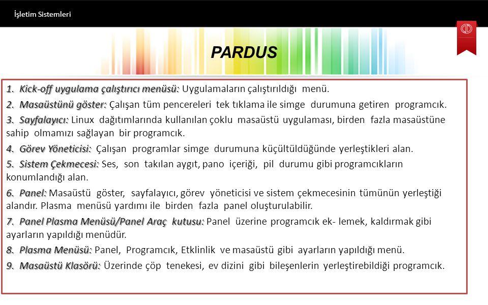 PARDUS İşletim Sistemleri Masaüstü