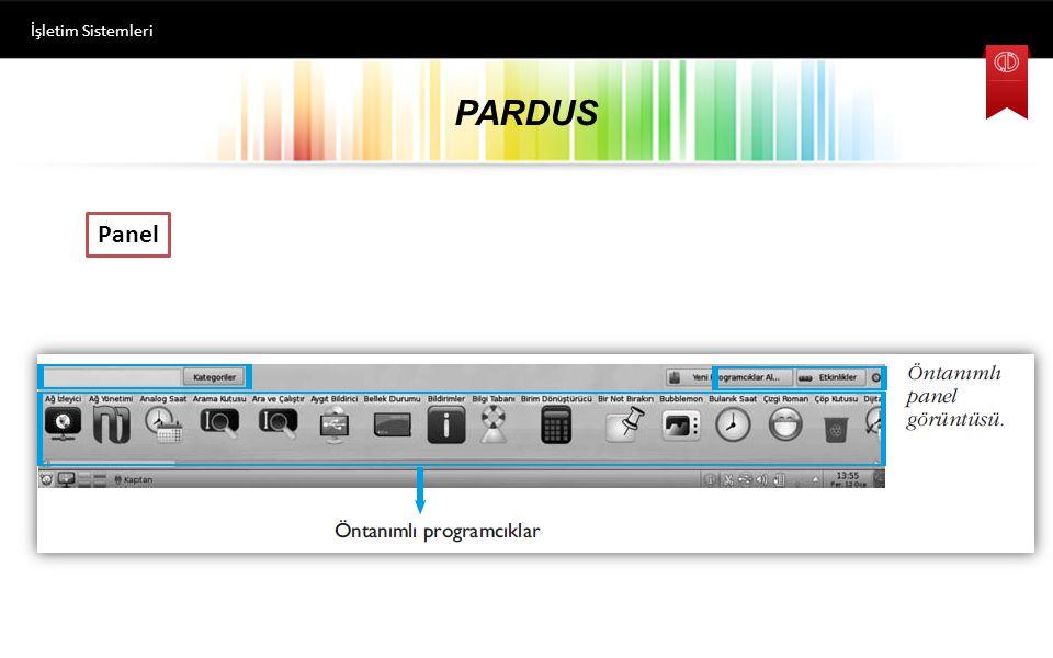 PARDUS İşletim Sistemleri Panel