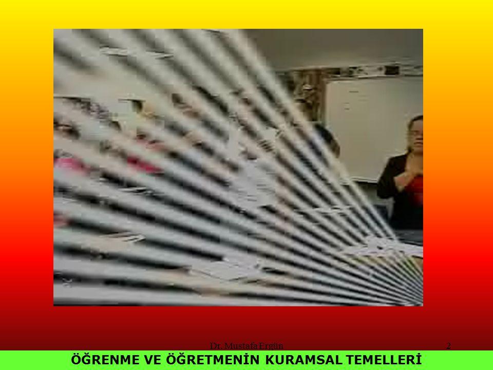 Dr. Mustafa Ergün2 ÖĞRENME VE ÖĞRETMENİN KURAMSAL TEMELLERİ