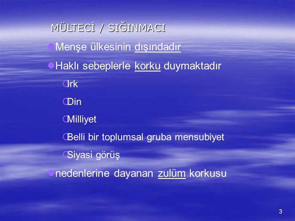 2 Türkiye 1951 sözleşmesini kabul ederken sözleşmeden doğan tercih hakkını kullanarak sözleşmeyi COĞRAFİ KISITLAMA ile 359 Sayılı Kanunla 1961 tarihin