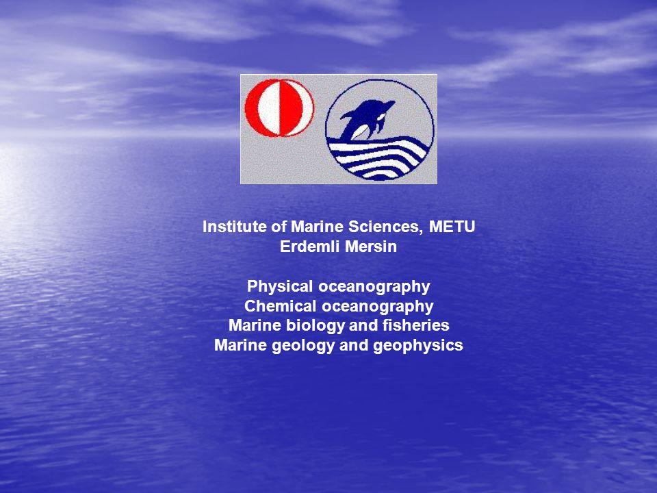 ODTÜ Deniz Bilimleri Enstitüsü fiziksel / kimyasal oşinografi meteoroloji atmosferik kimya ve taşınım atmosfer ve okyanus dolaşım modelleri atmosfer-deniz etkileşimi iklimsel değişkenlik ve değişim