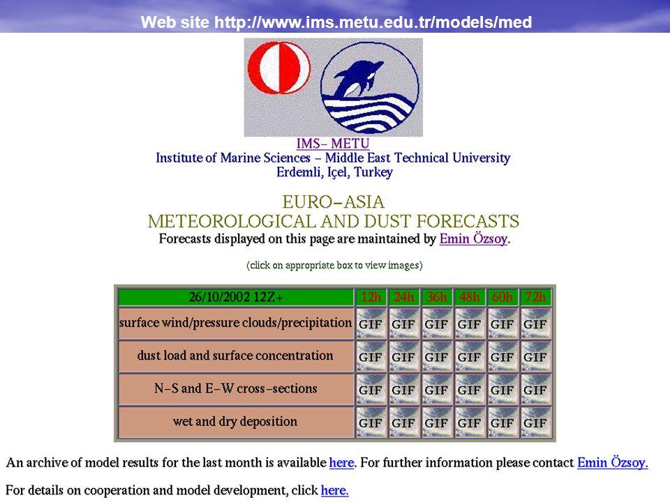 Web site http://www.ims.metu.edu.tr/models/med