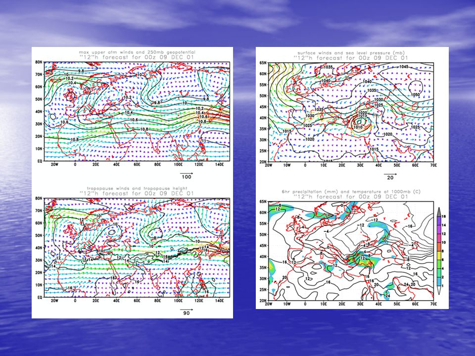 March 27, 2002, seawifs image Euro-Asia dust model forecasts on 26 March 2002, 12z and 27 March 2002, 12z
