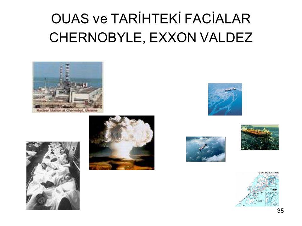 35 OUAS ve TARİHTEKİ FACİALAR CHERNOBYLE, EXXON VALDEZ
