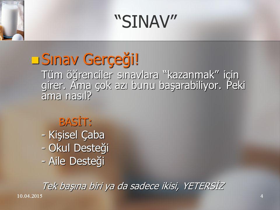 """10.04.20154 """"SINAV"""" Sınav Gerçeği! Sınav Gerçeği! Tüm öğrenciler sınavlara """"kazanmak"""" için girer. Ama çok azı bunu başarabiliyor. Peki ama nasıl? Tüm"""