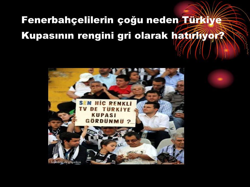 Fenerbahçelilerin çoğu neden Türkiye Kupasının rengini gri olarak hatırlıyor
