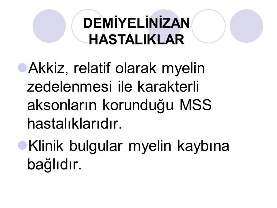 Akkiz, relatif olarak myelin zedelenmesi ile karakterli aksonların korunduğu MSS hastalıklarıdır.