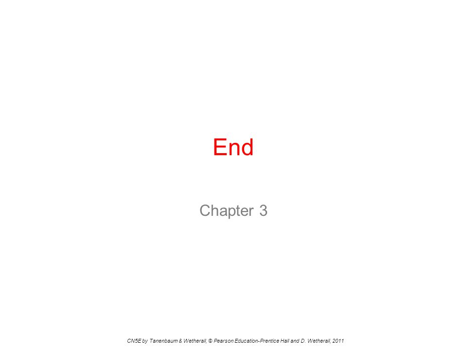 End Chapter 3 CN5E by Tanenbaum & Wetherall, © Pearson Education-Prentice Hall and D. Wetherall, 2011