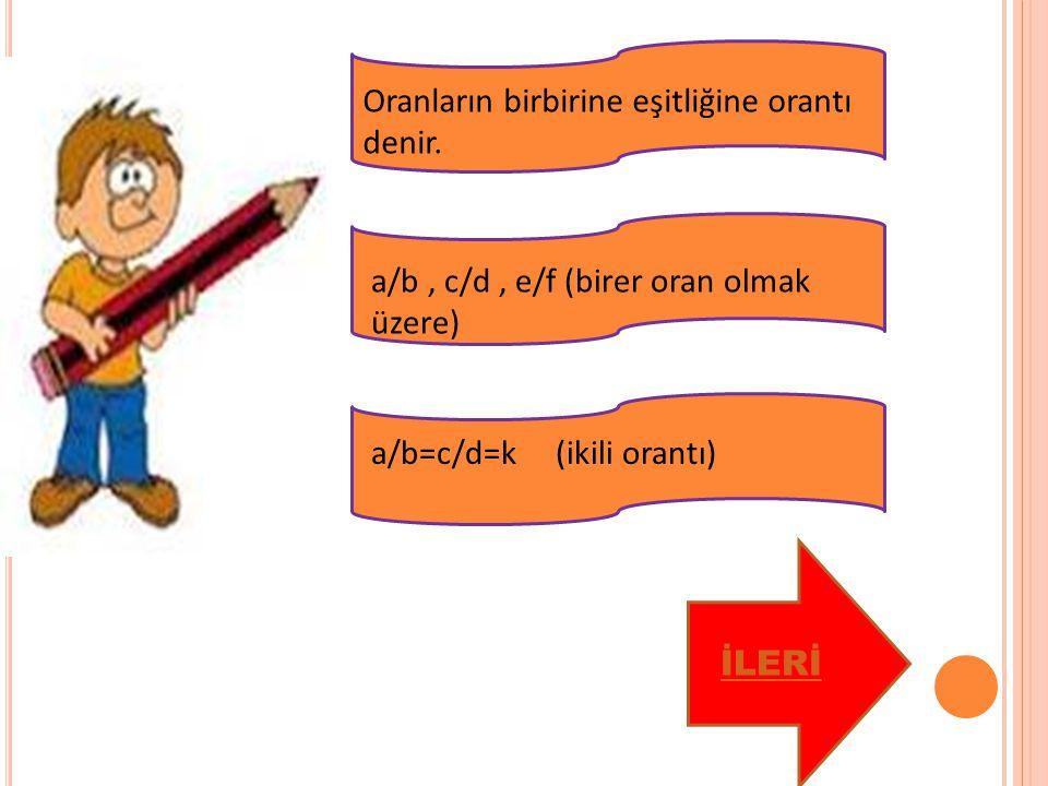 a ile b nin aritmetik ortalaması a+b / 2 a, b, c biçimindeki üç sayının aritmetik ortalaması, a+b+c / 3 n tane sayının aritmetik ortalaması x olsun.