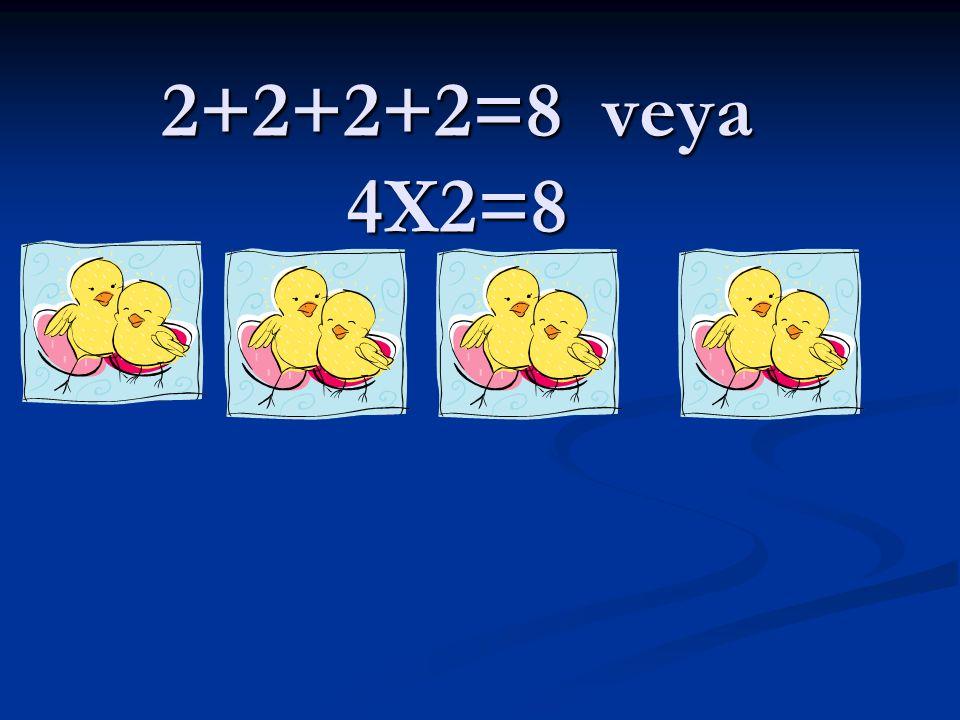 Bana altı(6) derler ben ikinin kaç katıyım? 2 x … = 6 2 x … = 6