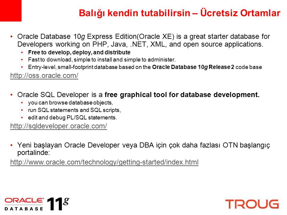 Oracle kısa tarihçe 1978 Oracle V1; pazardaki ilk *satış* amaçlı ilişkisel SQL veritabanı yönetim sistemi ….