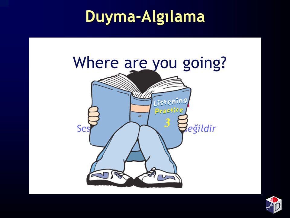 Duyma-Algılama Where are you going? Gruplama