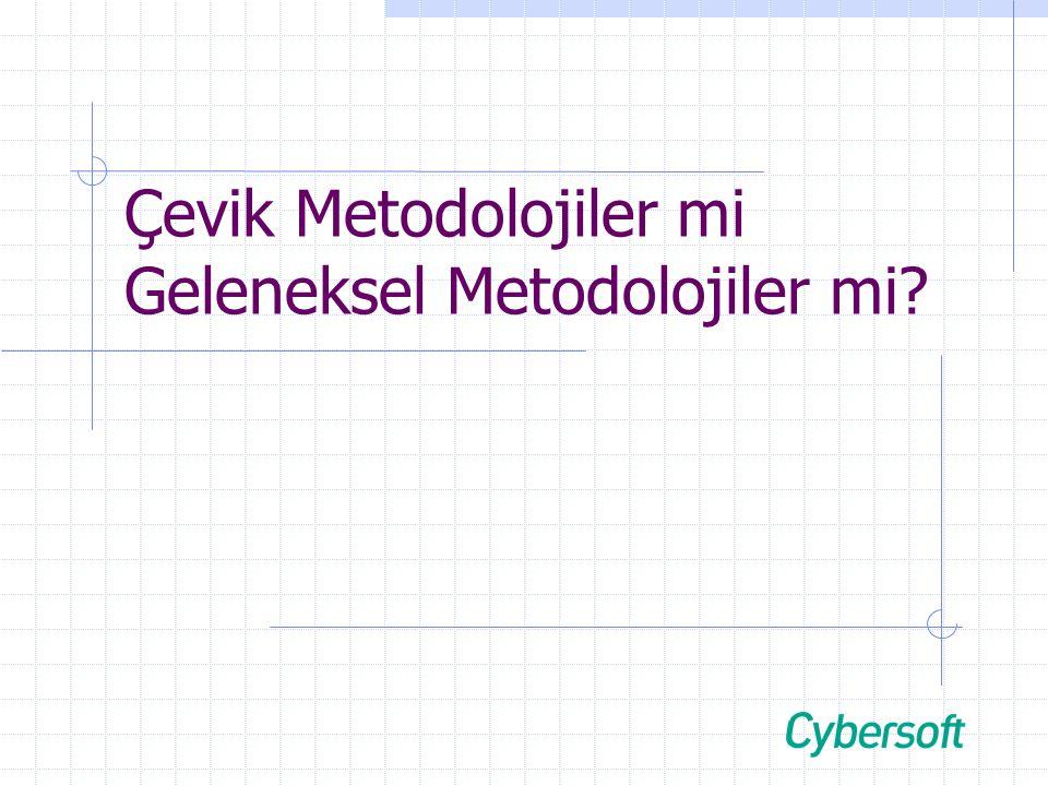 21.05.2004 Artılar / Eksiler +- Çevik Metodolojiler  Sıklıkla değişen gereksinimleri karşılar.