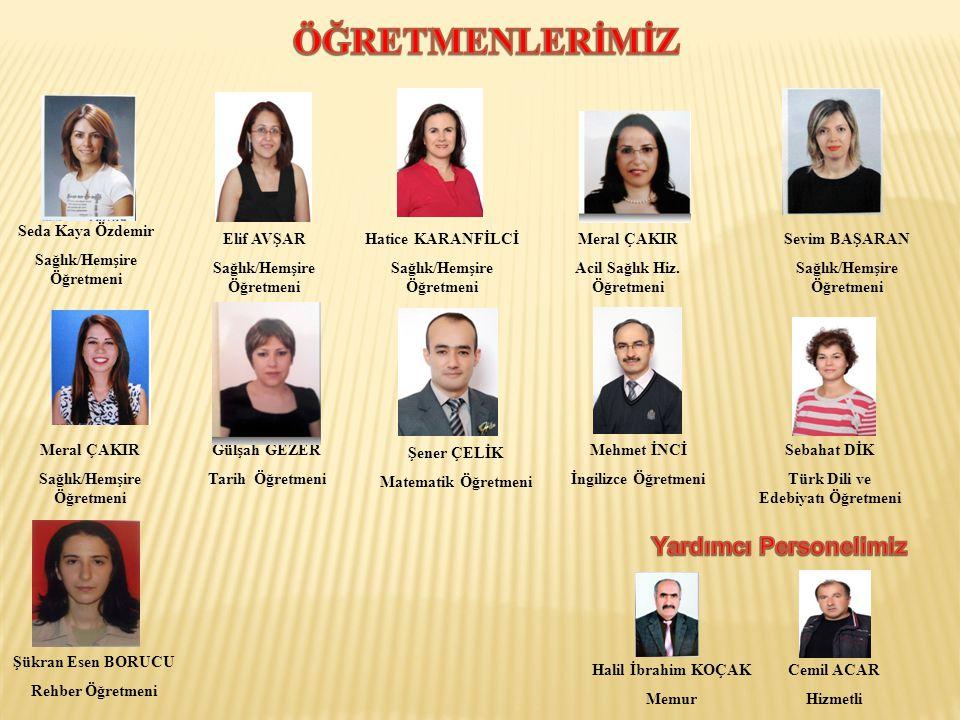 Hatice KARANFİLCİ Sağlık/Hemşire Öğretmeni Meral ÇAKIR Acil Sağlık Hiz.