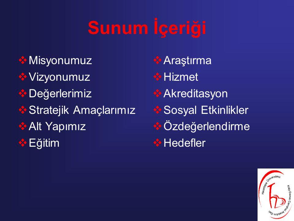 Fırsatlar – Olanaklar:  Başkentte olmak,  Hacettepe Üniversitesi Tıp Fakültesi'nin bir Anabilim Dalı olmak,  Tıp Fakültesi ve diğer sağlıkla ilgili fakülte ve yüksekokullarla aynı kampüste bulunmak,