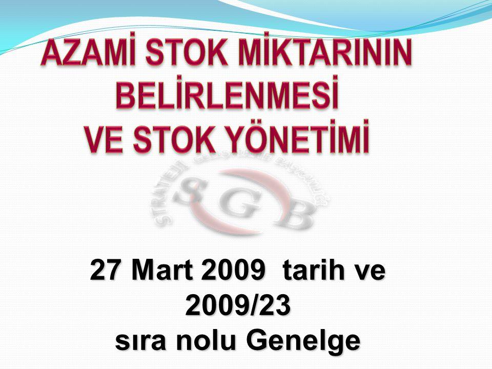 27 Mart 2009 tarih ve 2009/23 sıra nolu Genelge