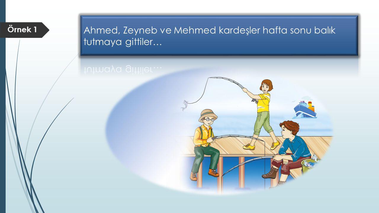 Zeyneb, Ahmed'in tuttuğu balık sayısının iki katı kadar.