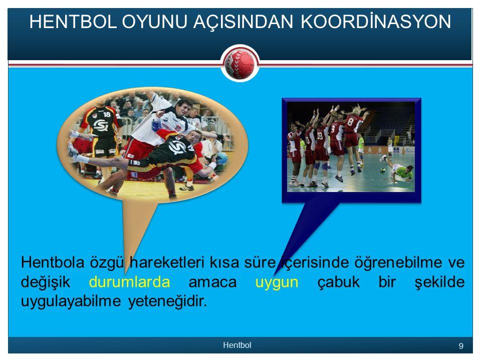 KAYNAKLAR Hentbol 30  Sevim, Yaşar ; Antrenman Bilgisi, 2007 Ankara, 8.