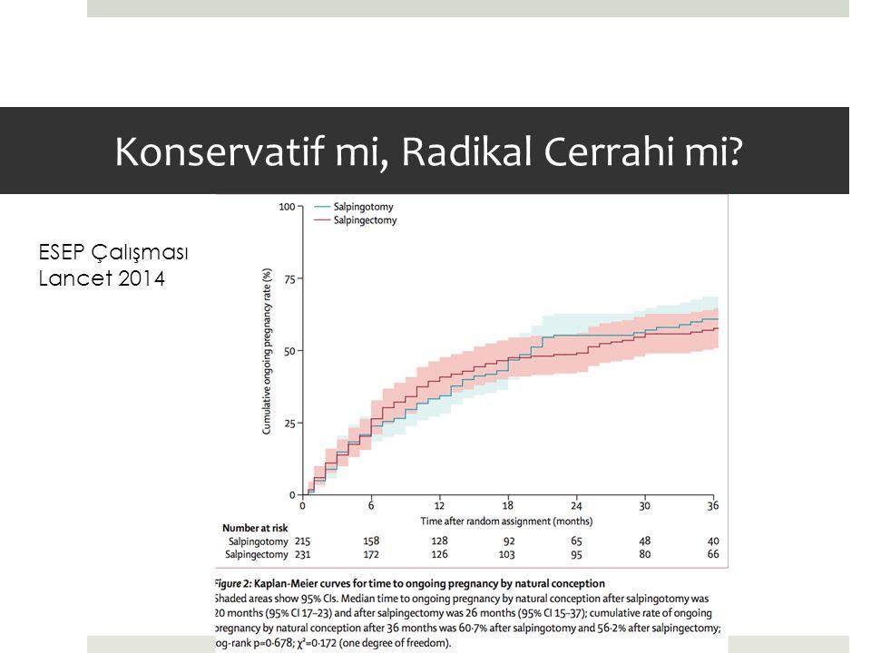 Konservatif mi, Radikal Cerrahi mi? ESEP Çalışması Lancet 2014
