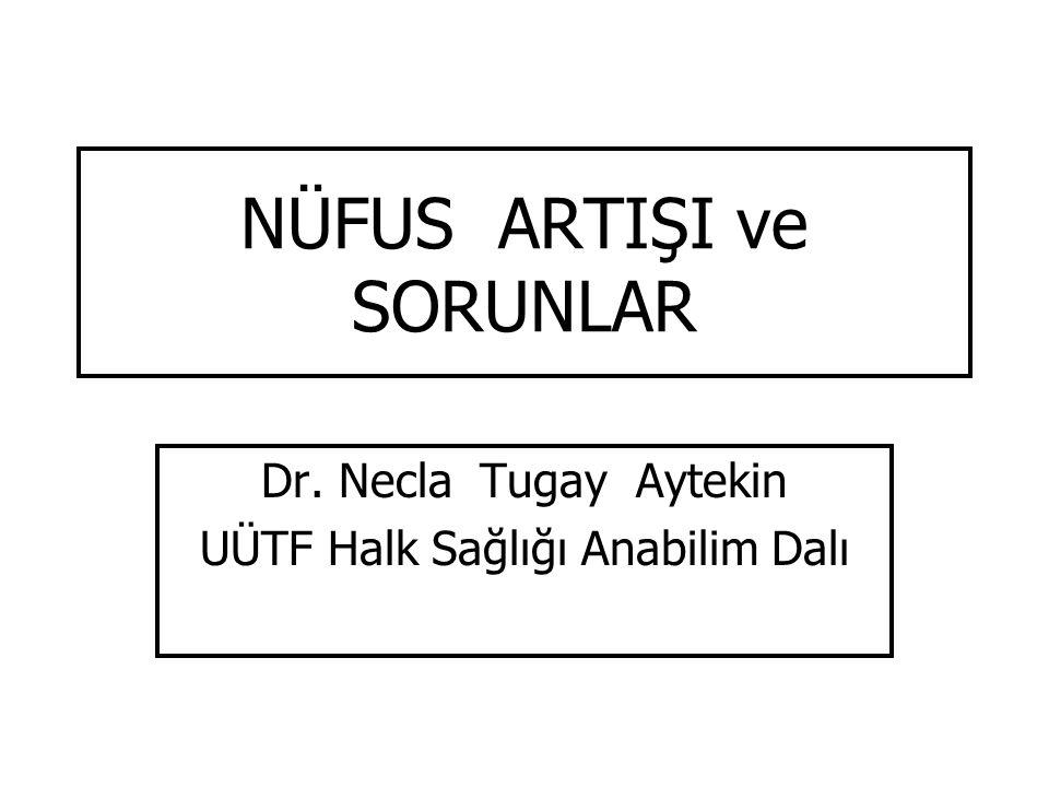 NÜFUS ARTIŞI ve SORUNLAR Dr. Necla Tugay Aytekin UÜTF Halk Sağlığı Anabilim Dalı