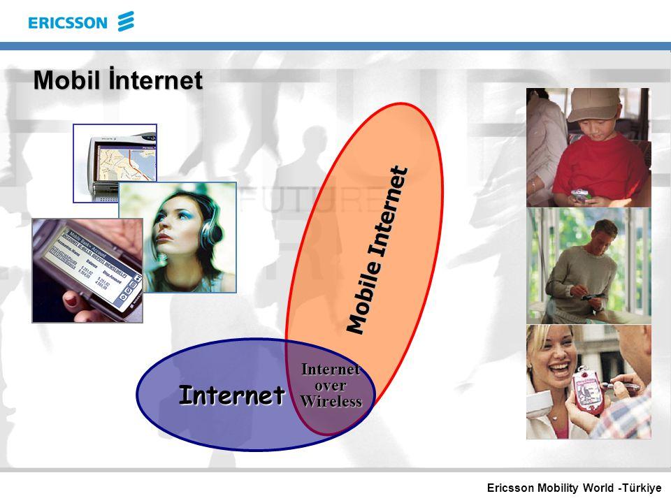 Ericsson Mobility World -Türkiye İnternet and Mobil İnternet  Her Zaman sizinle (Mobility)  Nerde Olduğunu Bilen (Positioning)  İşlem Olanağı Sağlayan (Security)  Sizin Kişisel Aracınız (Personalization)
