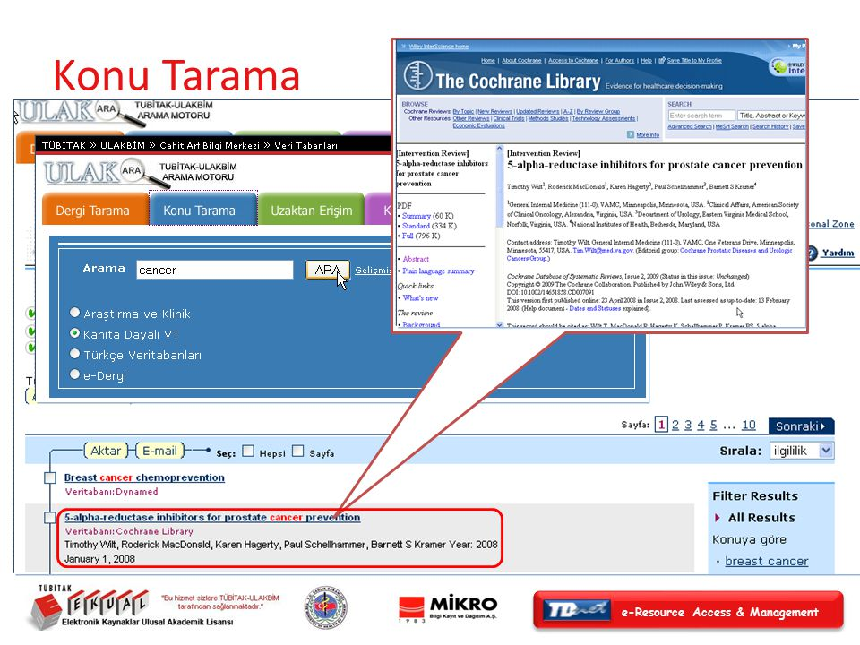 e-Resource Access & Management Konu Tarama