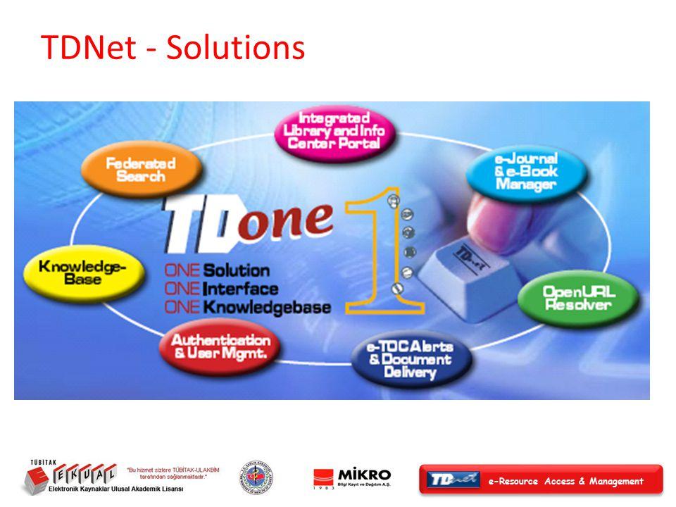 e-Resource Access & Management İçindekiler Sayfası