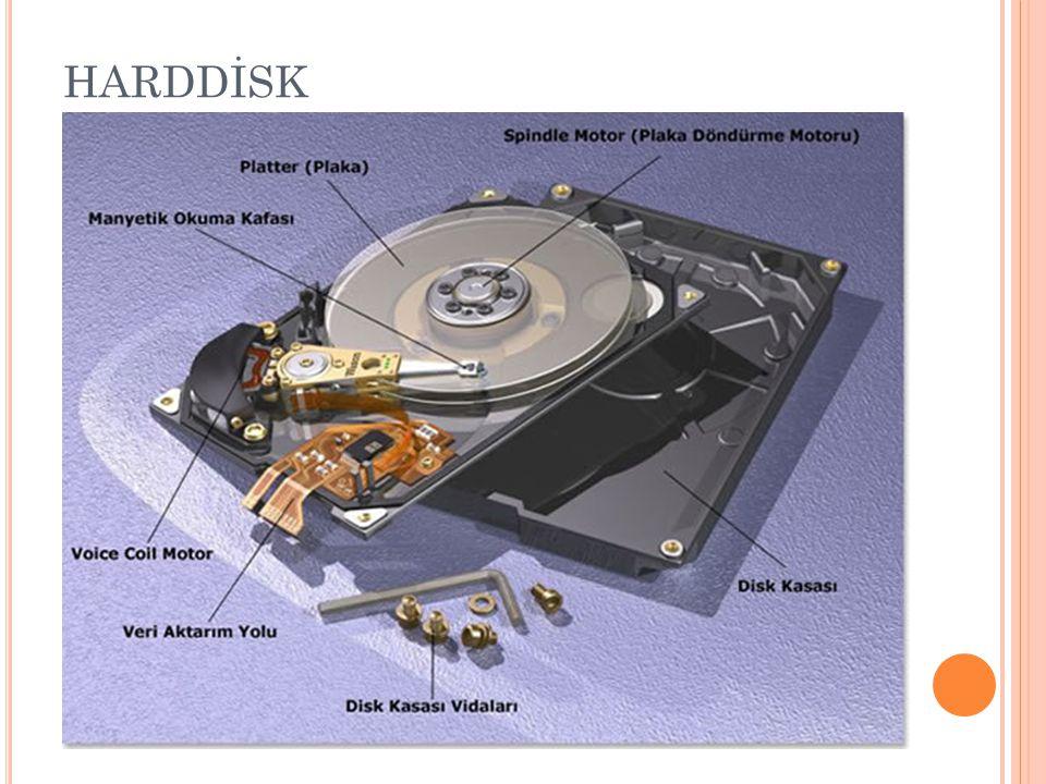 HAFIZA ÇEŞİTLERİ RAM : Bilgilerin geçici depolandığı bellek birimidir.