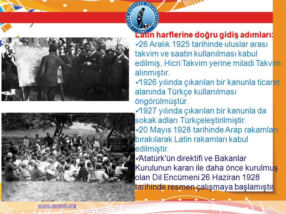 Latin harflerine doğru gidiş adımları: 26 Aralık 1925 tarihinde uluslar arası takvim ve saatin kullanılması kabul edilmiş, Hicri Takvim yerine miladi