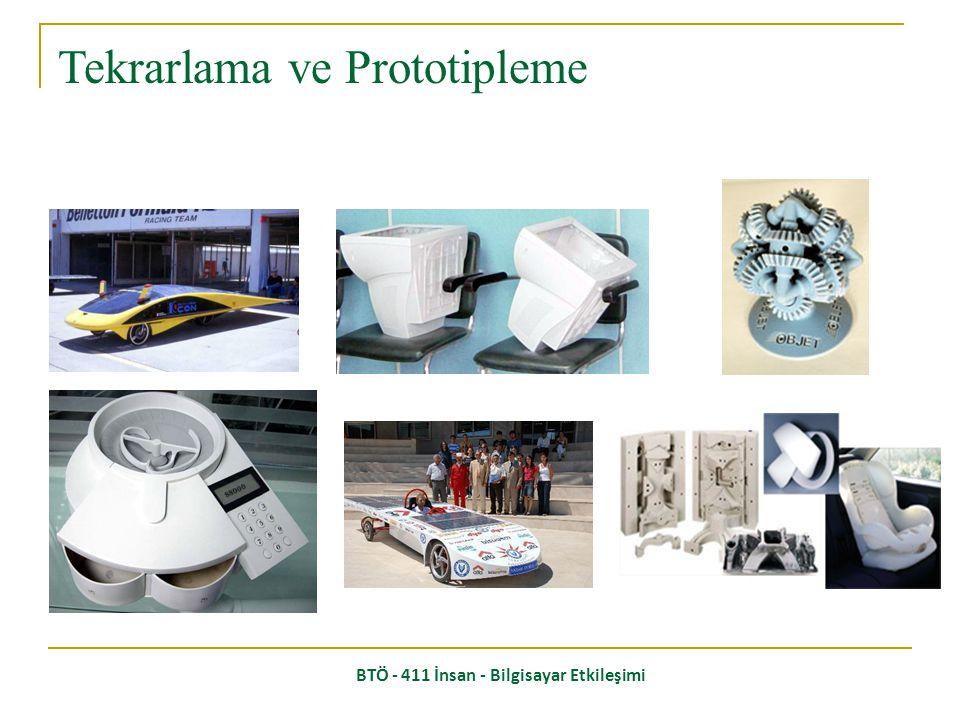 Prototip: Detaylandırma ve seri üretim aşamasına geçmeden önce üretilen örnek ürün. (Model) Özellikle kompleks ürünler için şarttır. Tekrarlama ve Pro